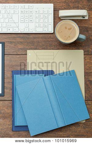 Notebooks On The Office Desk