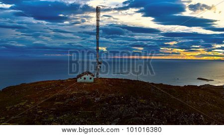 Beautiful Landscape Norwegian Islands With Radio