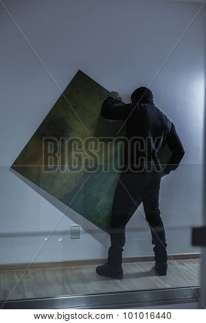 Thief Stealing Expensive Painting