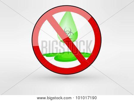 Acid vector illustration with dangerous green liquid