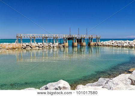 Dam on Mediterranean Sea