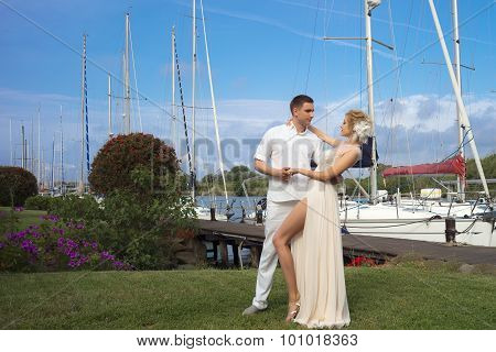 Wedding Couple In Bay