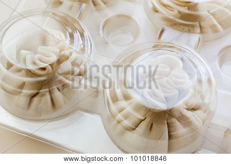 Packing Of Dumplings Or Ravioli Frozen Bowl