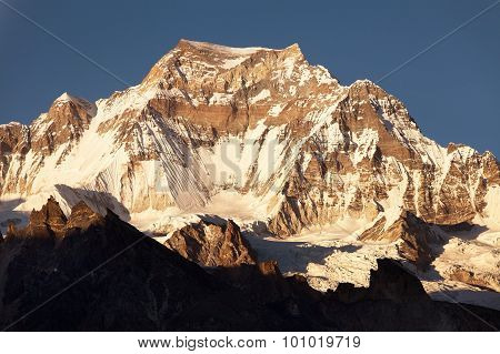 Evening View From Gokyo Ri To Mount Gyachung Kang 7952M