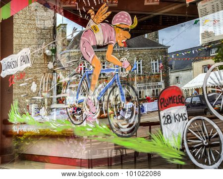 Funny Window Shop Decoration - Tour De France 2015