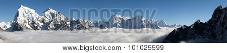 Panoramic Scenery View From Gokyo Ri