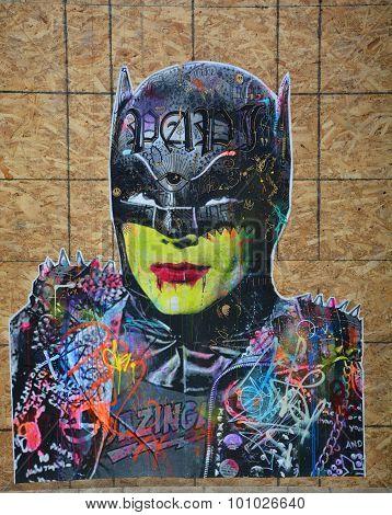 Street art Montreal Batman