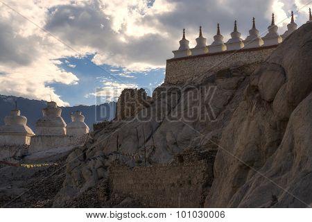 Stupa at Shey palace Leh Ladakh ,India.