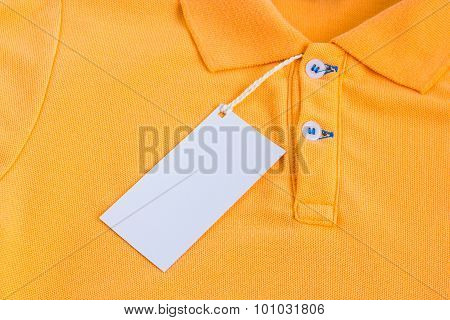 A Blank White Label Or Tag Attached On Shirt