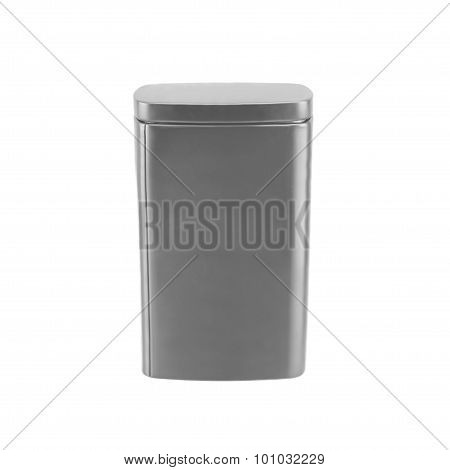 Aluminum box isolated on white background.