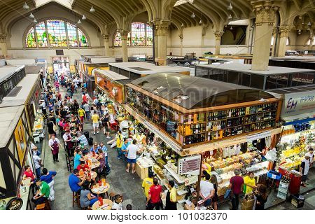 The Traditional Municipal Market (mercado Municipal) In Sao Paulo, Brazil