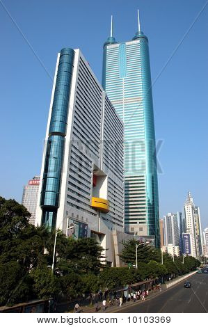 Modern Skyscraper In Shenzhen, China