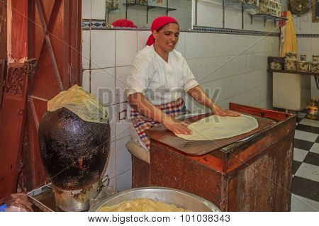 Moroccan Woman Cooking