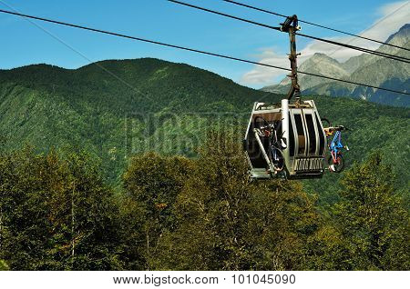 Cableway Carrying Bicycle