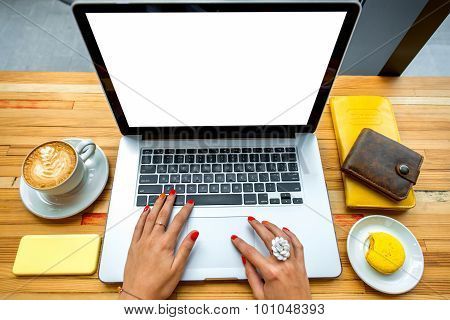 Working place with laptop