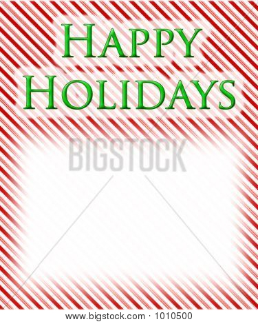 Happy  Holidays Candy Cane Background