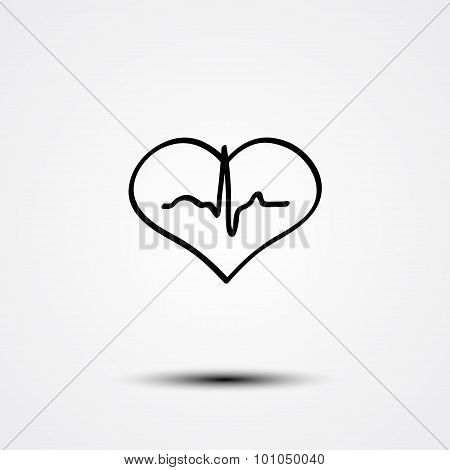 Abstract heart and ecg