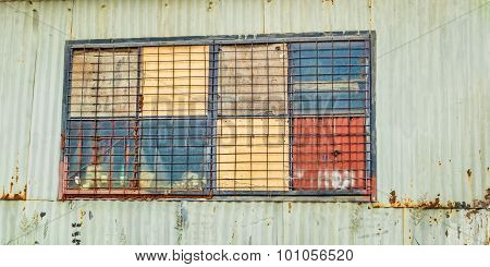 Corrugated Iron Shed Window