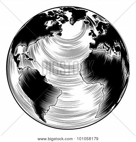 Vintage Globe Illustration
