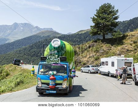 Teisseire Caravan In Pyrenees Mountains - Tour De France 2015