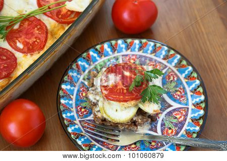Moussaka On A Plate