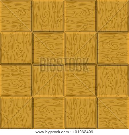 Seamless Pattern Wooden Parquet. Vector Wooden Background. Decorative Wooden Floor Texture.