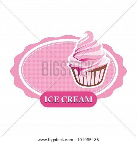 Abstract symbol ice cream design logo vector