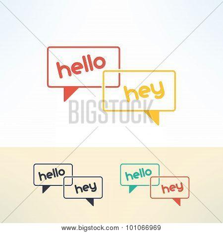 Vector bubbles dialogue in modern flat design. Speech bubble elements
