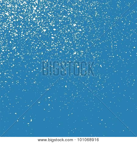Grainy Abstract White Texture On A Blue Background.