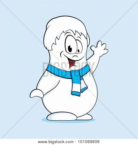 Fun snowman. Vector illustration