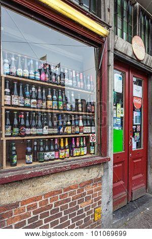 Belgian Beer Shop In Ghent, Belgium