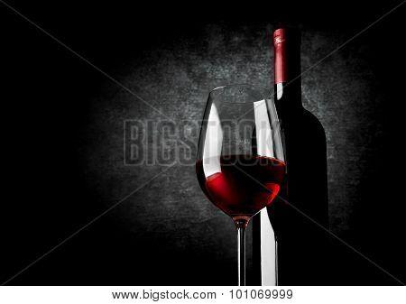Wine and black