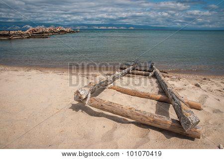 Shore Of The Lake Baikal, Olkhon, Russia