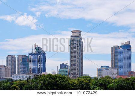 Metro Manila City Philippines Skyline