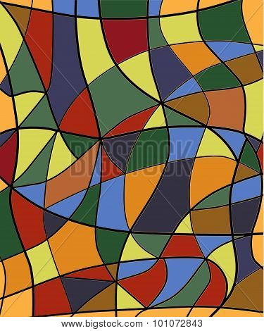 Abstract Stained Glass Background.vector