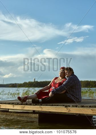Lovely Couple Together, Summer Evening