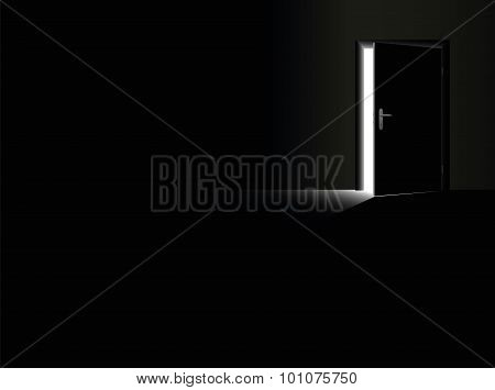 Darkness Open Door Glimmer Light Escape Black
