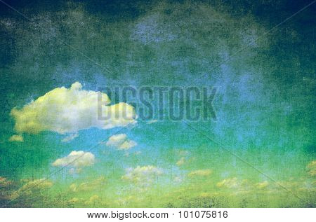 grunge background of a sky with clouds