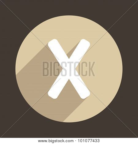 Letter X Logo Flat Icon Style. Vector