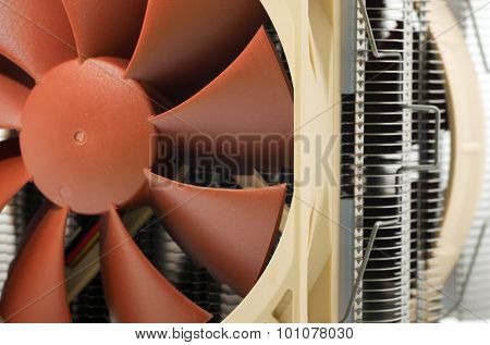 Cooler computer fan equipment. Technology design.