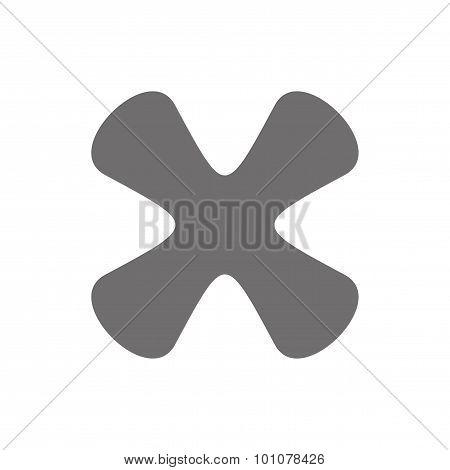 Letter X Logo Concept Icon. Vector