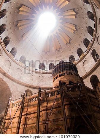 Jerusalem - Juli 13: Greek Chapel Of The Church Of Holy Sepulchre In Jerusalem,