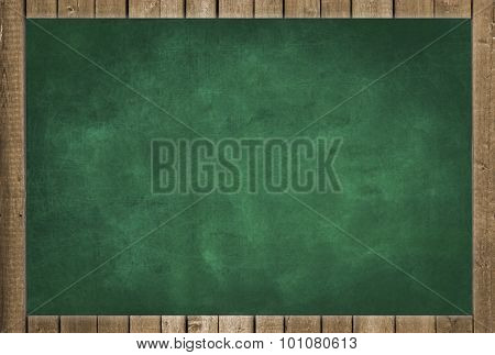 empty green chalkboard  background - blank