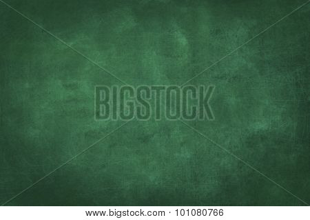 plain green chalkboard blank background