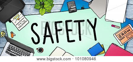 Safety Firewall Protection Security Insurance Concept