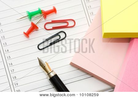 Elegant Fountain Pen On Paper With Clipping Path