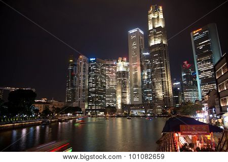 Singapore at night
