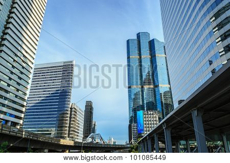 Building Modern Business Area In Bangkok