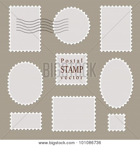 Postal Vector Stamps, Old Style.