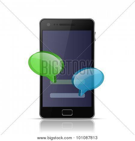 Mobile messenger app icon. Messenger icon for smart phone. Vector illustration